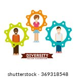 diversity people design  | Shutterstock .eps vector #369318548
