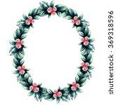 berries  wreath for  invitation  | Shutterstock . vector #369318596