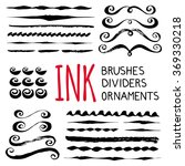 ink brushes  dividers and... | Shutterstock .eps vector #369330218
