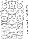set of vintage frame and design ... | Shutterstock .eps vector #36933592