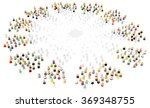 crowd of small symbolic 3d... | Shutterstock . vector #369348755