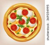 pizza margherita vector...   Shutterstock .eps vector #369354995