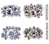 flower set   Shutterstock .eps vector #369355016