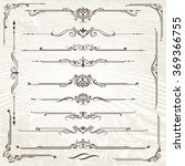 vintage frames and scroll...   Shutterstock .eps vector #369366755