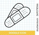 bandage color doodle | Shutterstock .eps vector #369378566
