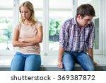 annoyed couple ignoring each... | Shutterstock . vector #369387872