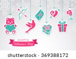 symbols of valentine as on... | Shutterstock .eps vector #369388172