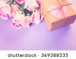 gift box wrapped in recycled... | Shutterstock . vector #369388535
