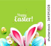 easter greeting card with... | Shutterstock .eps vector #369391028