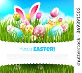 easter greeting card with... | Shutterstock .eps vector #369391502