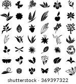 big black natural set | Shutterstock .eps vector #369397322