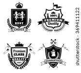 heraldic best choice emblems set | Shutterstock . vector #369411122