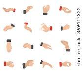 grabbing hand icons set | Shutterstock . vector #369412322