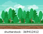 game seamless summer landscape... | Shutterstock . vector #369412412