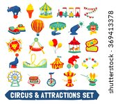 circus icons set | Shutterstock . vector #369413378