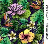 tropical seamless pattern | Shutterstock . vector #369415265
