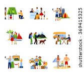 images set of vacation options   Shutterstock . vector #369415325