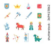 medieval games symbols flat... | Shutterstock . vector #369415862
