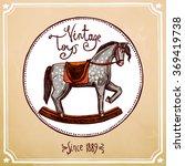 vintage rocking horse | Shutterstock . vector #369419738