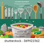 cooking equipment and time... | Shutterstock . vector #369421562