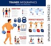 trainer infographics set   Shutterstock . vector #369421622
