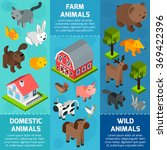 isometric animal banner | Shutterstock . vector #369422396