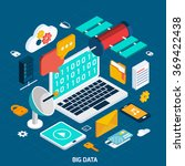 big data isometric concept | Shutterstock . vector #369422438