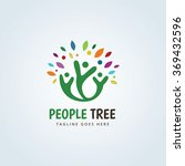 people tree logo people logo... | Shutterstock .eps vector #369432596