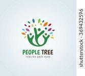 people tree logo    Shutterstock .eps vector #369432596