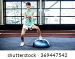 fit woman doing exercise with... | Shutterstock . vector #369447542