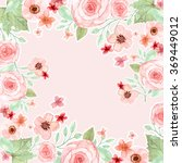 flower wedding invitation card  ... | Shutterstock . vector #369449012