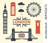 vector illustration of london... | Shutterstock .eps vector #369452672