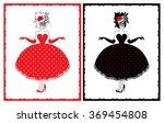 cabaret dancer   Shutterstock .eps vector #369454808