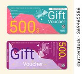 gift voucher  template with... | Shutterstock .eps vector #369465386