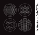 metatrons cube and flower of... | Shutterstock .eps vector #369471716