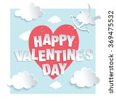 happy valentine's day greeting...   Shutterstock .eps vector #369475532