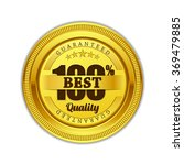 best quality guaranteed gold... | Shutterstock .eps vector #369479885