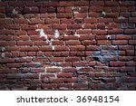 Brick wall on the power house at Bodie California - stock photo