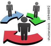 a group of 3 people associate... | Shutterstock . vector #36948892