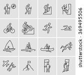 Outdoor Activities Vector Icons  | Shutterstock vector #369495506