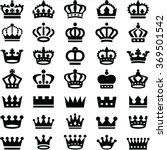 crown icons collection   vector ... | Shutterstock .eps vector #369501542