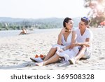 romantic young couple in love... | Shutterstock . vector #369508328