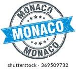 monaco blue round grunge...   Shutterstock .eps vector #369509732