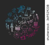 set of hand drawn vector... | Shutterstock .eps vector #369529238
