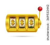 slot machine isolated on white... | Shutterstock .eps vector #369532442