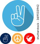 peace sign  set  flat style | Shutterstock .eps vector #369533942