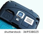 close up of a smart phone camera | Shutterstock . vector #369538025