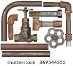 old valve ant rusty pipes... | Shutterstock . vector #369544352
