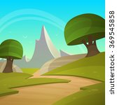 cartoon fantasy landscape | Shutterstock .eps vector #369545858