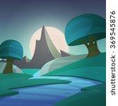 cartoon fantasy landscape  ... | Shutterstock .eps vector #369545876